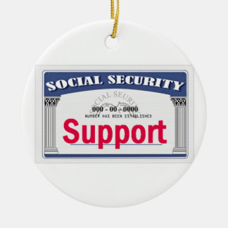 Social Security Ornament