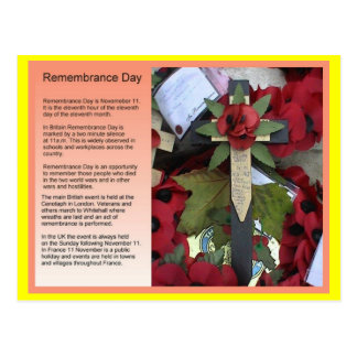 Social studies, History, Remembrance Day Postcard