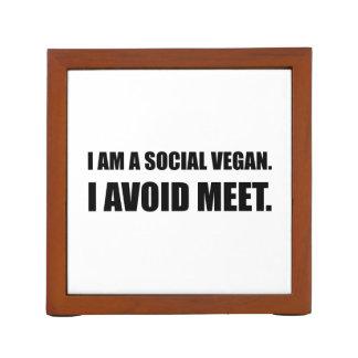 Social Vegan Avoid Meet Desk Organiser