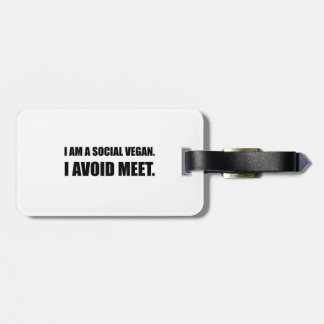 Social Vegan Avoid Meet Luggage Tag