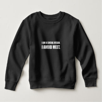 Social Vegan Avoid Meet Sweatshirt