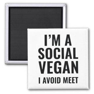 Social Vegan Magnet