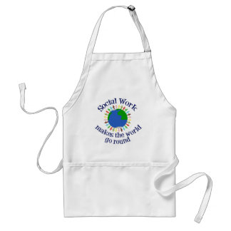Social Work Makes the World Go Round Standard Apron