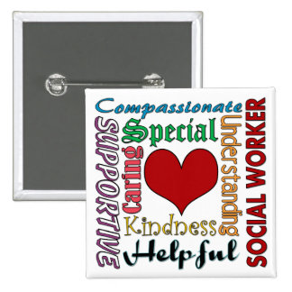 Social Worker 15 Cm Square Badge