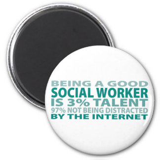 Social Worker 3% Talent 6 Cm Round Magnet