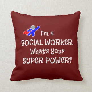 Social Worker and Super Hero Cushion