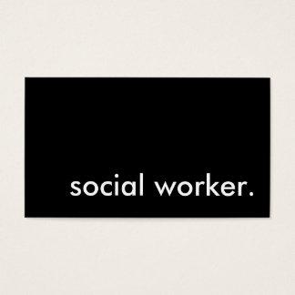 social worker. business card