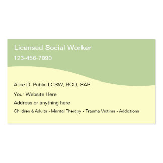 Social Worker Business Cards