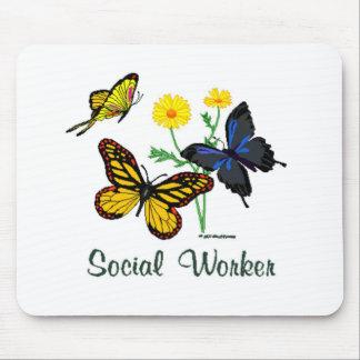 Social Worker Butterflies Mousepads