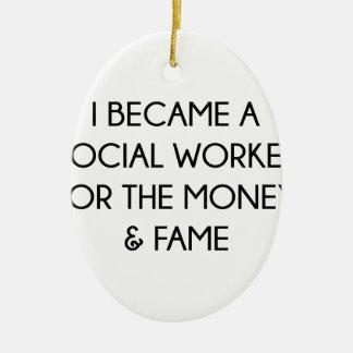 Social Worker Ceramic Ornament