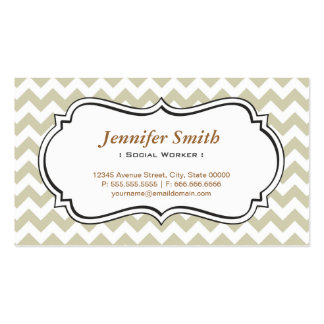 Social Worker - Chevron Simple Jasmine Pack Of Standard Business Cards
