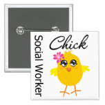 Social Worker Chick 15 Cm Square Badge
