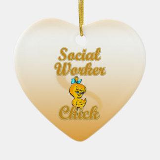 Social Worker Chick Ceramic Ornament