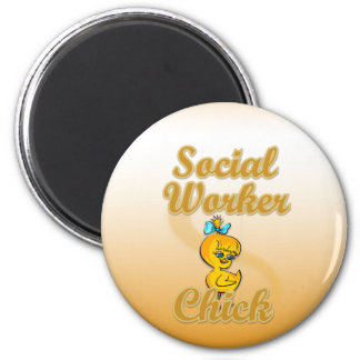 Social Worker Chick 6 Cm Round Magnet