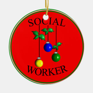 Social Worker Christmas Ornament