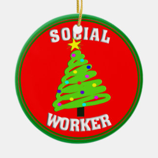 Social Worker Christmas Tree Ornament