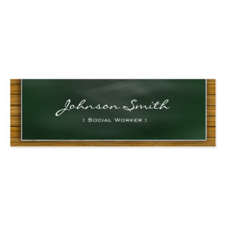 Social Worker - Cool Blackboard Personal Pack Of Skinny Business Cards
