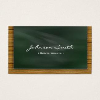 Social Worker - Cool Chalkboard