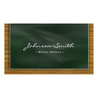 Social Worker - Cool Chalkboard Pack Of Standard Business Cards