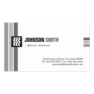Social Worker - Creative Black White Pack Of Standard Business Cards