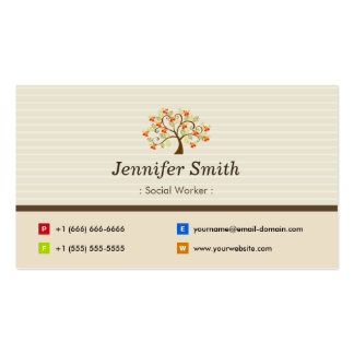 Social Worker - Elegant Tree Symbol Pack Of Standard Business Cards