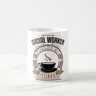 Social Worker Fueled By Coffee Coffee Mug