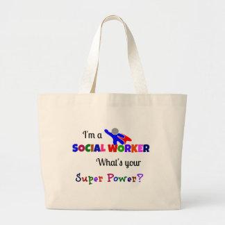 Social Worker Humor Large Tote Bag