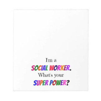 Social Worker Humor Notepad