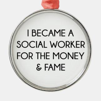 Social Worker Metal Ornament