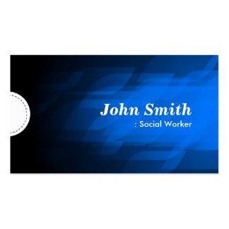 Social Worker - Modern Dark Blue Business Card