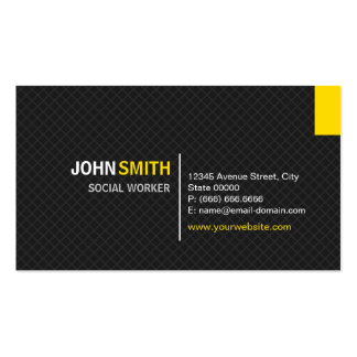 Social Worker - Modern Twill Grid Pack Of Standard Business Cards