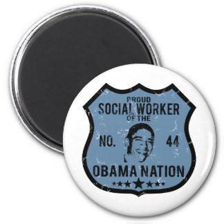 Social Worker Obama Nation Magnet