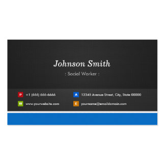 Social Worker - Professional Customizable Pack Of Standard Business Cards
