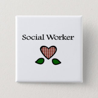 Social Worker Red GH 15 Cm Square Badge