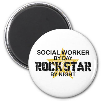 Social Worker Rock Star by Night Magnet