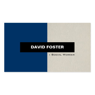 Social Worker - Simple Elegant Stylish Pack Of Standard Business Cards
