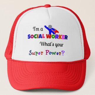 Social Worker Super Power Trucker Hat