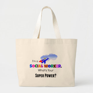 Social Worker Superhero Large Tote Bag