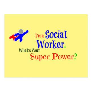 Social Worker Superhero Postcard