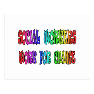 Social Workers Work For Change Postcards