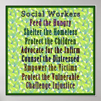 Social Workers Work Print