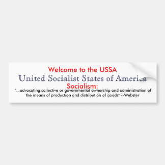 Socialism definition bumper sticker