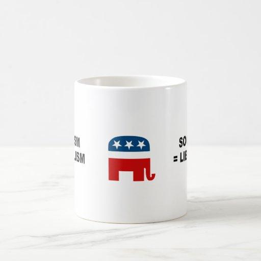 Socialism equals Liberalism Coffee Mug