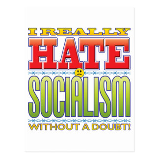 Socialism Hate Face Post Card