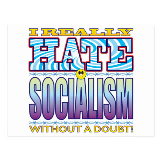 Socialism Hate Face Postcard