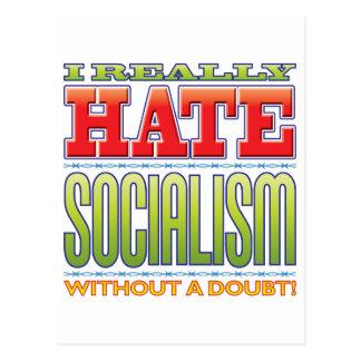Socialism Hate Postcard