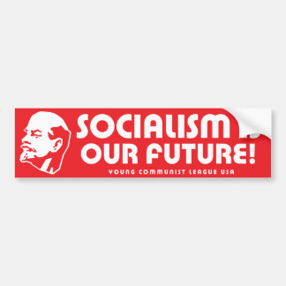 """""""Socialism is our future!"""" YCLUSA Bumper Sticker"""