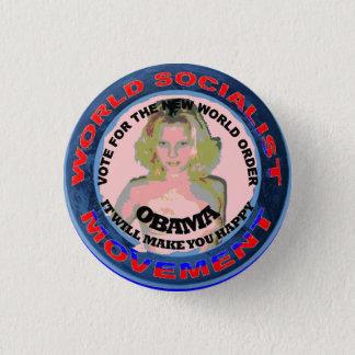 SOCIALIST CHICK 3 CM ROUND BADGE