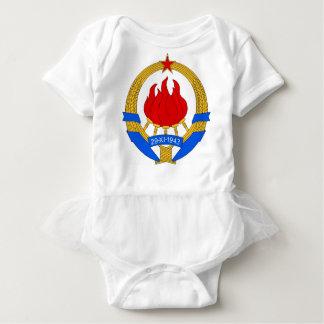 Socialist Federal Republic of Yugoslavia Emblem Baby Bodysuit