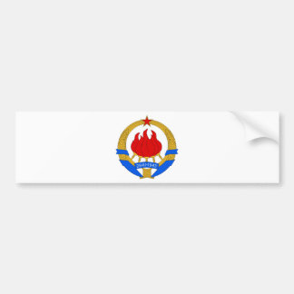 Socialist Federal Republic of Yugoslavia Emblem Bumper Sticker
